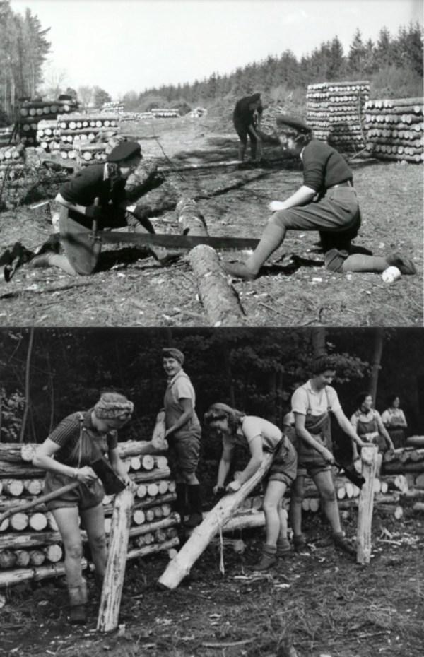 The Lumberjills of World War II.