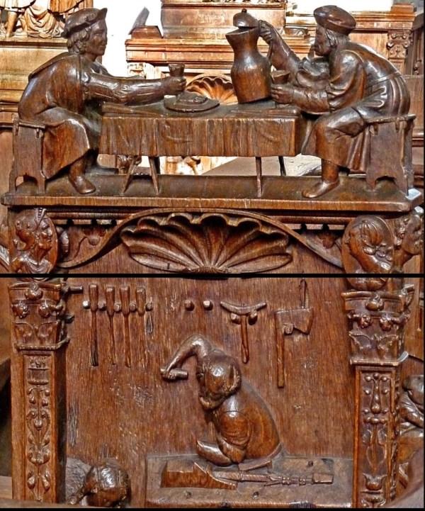 1520, La Collegiale Notre Dame, Montreal en Bourgogne, France.