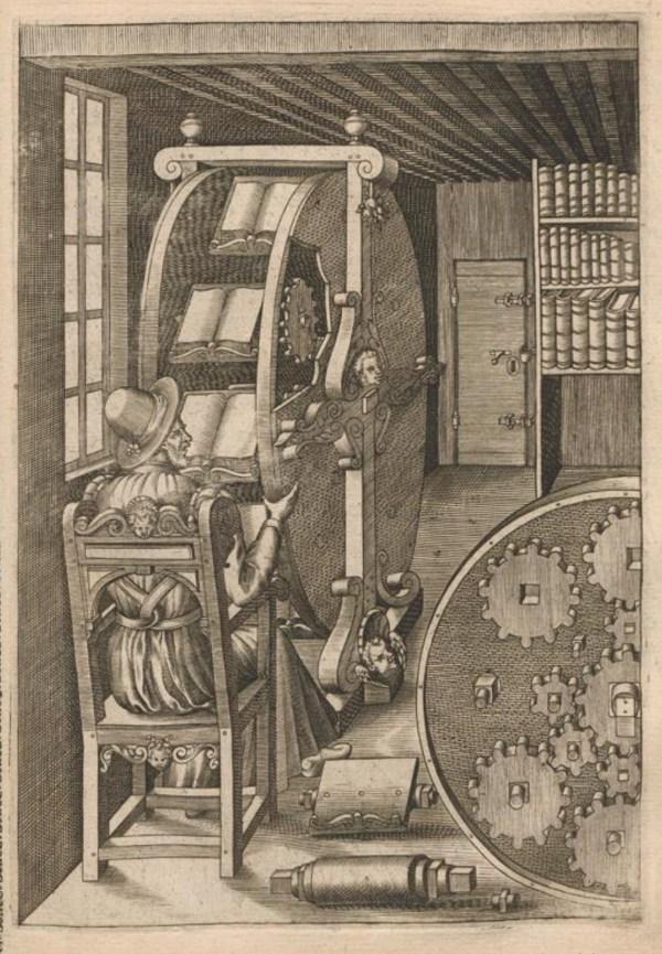 Agostino Ramelli's 16th-century book wheel