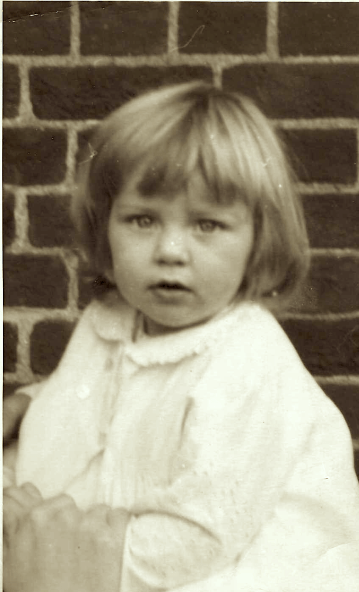 Kate as a baby
