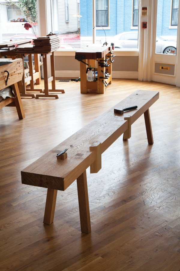A reproduction of the Saalburg workbench
