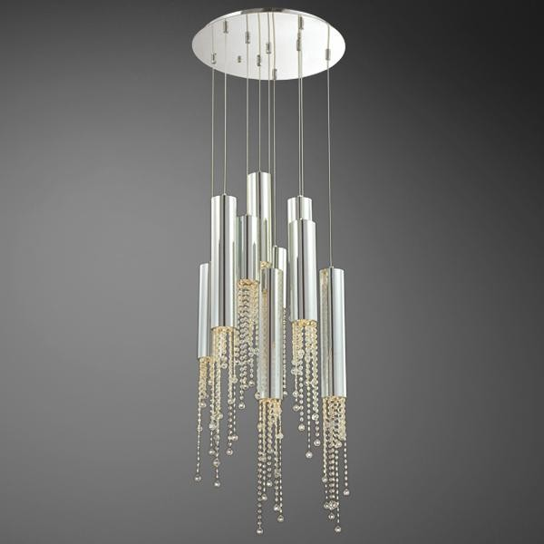 Groove 9lt Pendant In Chrome Clear By Eurofase Lighting
