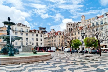 Photo of the centre of Lisbon where has the largest concentration of Short-term rental
