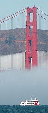 San Francisco - Golden Gate Bridge shrouded in fog