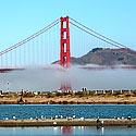 San Francisco - Golden Gate Bridge and Fog view from Chrissy Field