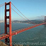 San Francisco - Golden Gate Bridge view from Marin Headlands