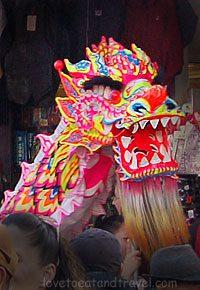 San Francisco - Dragon at Chinese New Years Parade in Chinatown