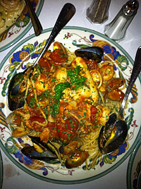 Seafood Pasta at Trattoria Contadina in North Beach, San Francisco, CA
