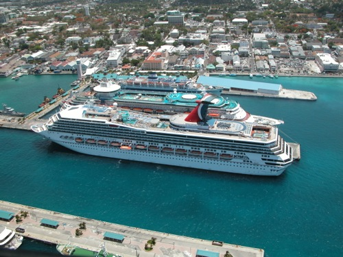 Cruise Ship in Bahamas © LoveToEatAndTravel.com