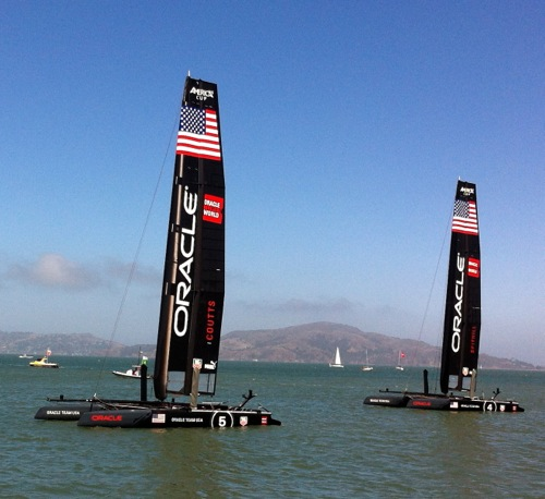 Oracle Team USA - America's Cup World Series 2012, San Francisco, CA – © LoveToEatAndTravel.com