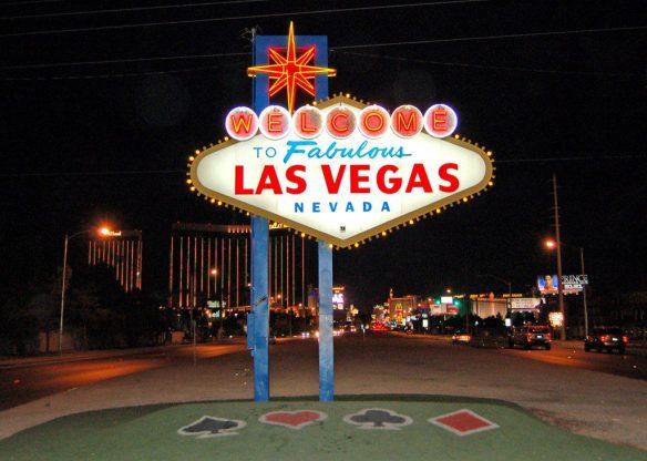 "Famous  ""Welcome to Fabulous Las Vegas Nevada"" sign © LoveToEatAndTravel.com"