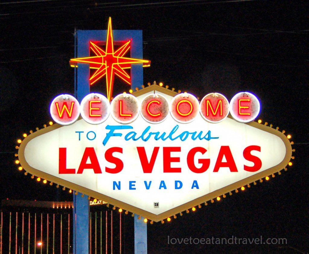 Las Vegas Sign at Night – © LoveToEatAndTravel.com