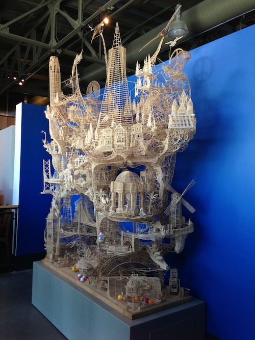 Toothpick Sculpture at Exploratorium, San Francisco © LoveToEatAndTravel.com