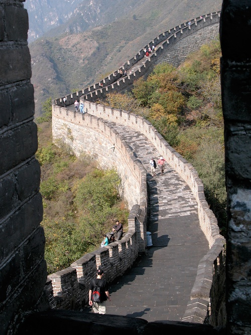 View of the Great Wall of China from one of the watchtowers, Beijing - © LoveToEatAndTravel.com