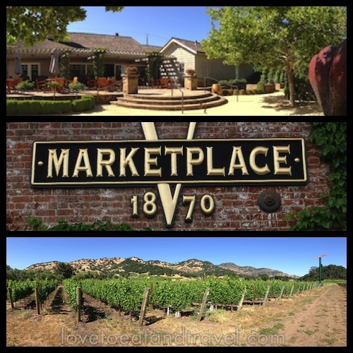 Cliff Lede Vineyards, V Marketplace 1870 and Yountville vineyard, Napa Valley, CA - © LoveToEatAndTravel.com