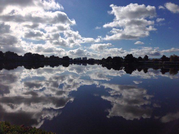 View along Foster City, CA lagoon - © LoveToEatAndTravel.com