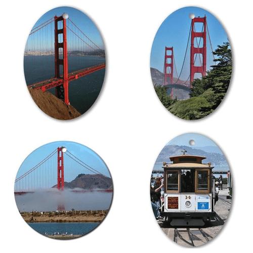 San Francisco Golden Gate Bridge and Cable Car Ornaments – © LoveToEatAndTravel.com