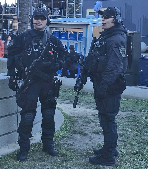 Police and SWAT at Super Bowl City, San Francisco - © LoveToEatAndTravel.com