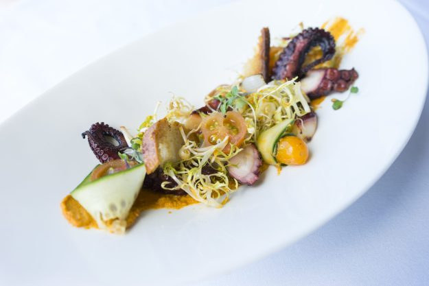 Spring Small Bites - Grilled Octopus Salad - photo credit: CLIFT Hotel