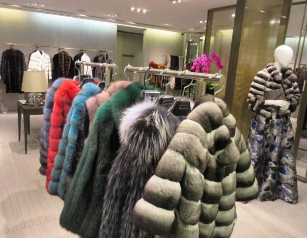 Holt Renfrew fur coats - Photo Credit: Deborah Grossman