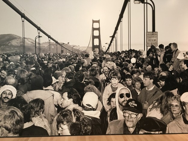 Golden Gate Bridge Fiftieth Anniversary, 1987 at SFMOMA - © Michael Jang; photo: Don Ross