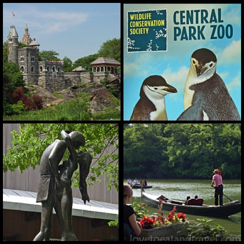 Belvedere Castle, Central Park Zoo, Romeo & Juliet statue, Gondola Rides in Central Park Lake, NYC - © LoveToEatAndTravel.com