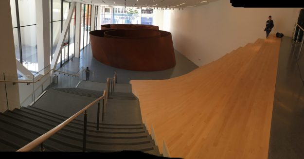 """Richard Serra's sculpture """"Sequence"""" at SFMOMA - photo © Love to Eat and Travel"""