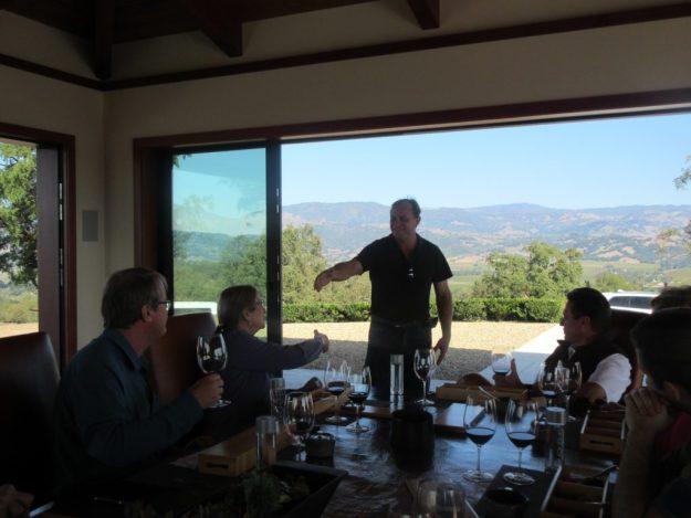 Jordan Estate Tour John Jordan visits with the guests - Photo Credit: Deborah Grossman