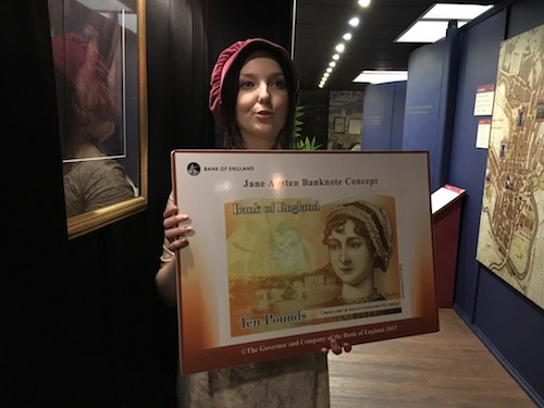 Jane Austen featured on England's £10 note in mid-2017 - photo © Love to Eat and Travel