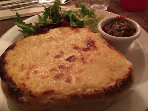Welsh Rarebit toasted bun at Sally Lunn in Bath, UK - photo © Love to Eat and Travel