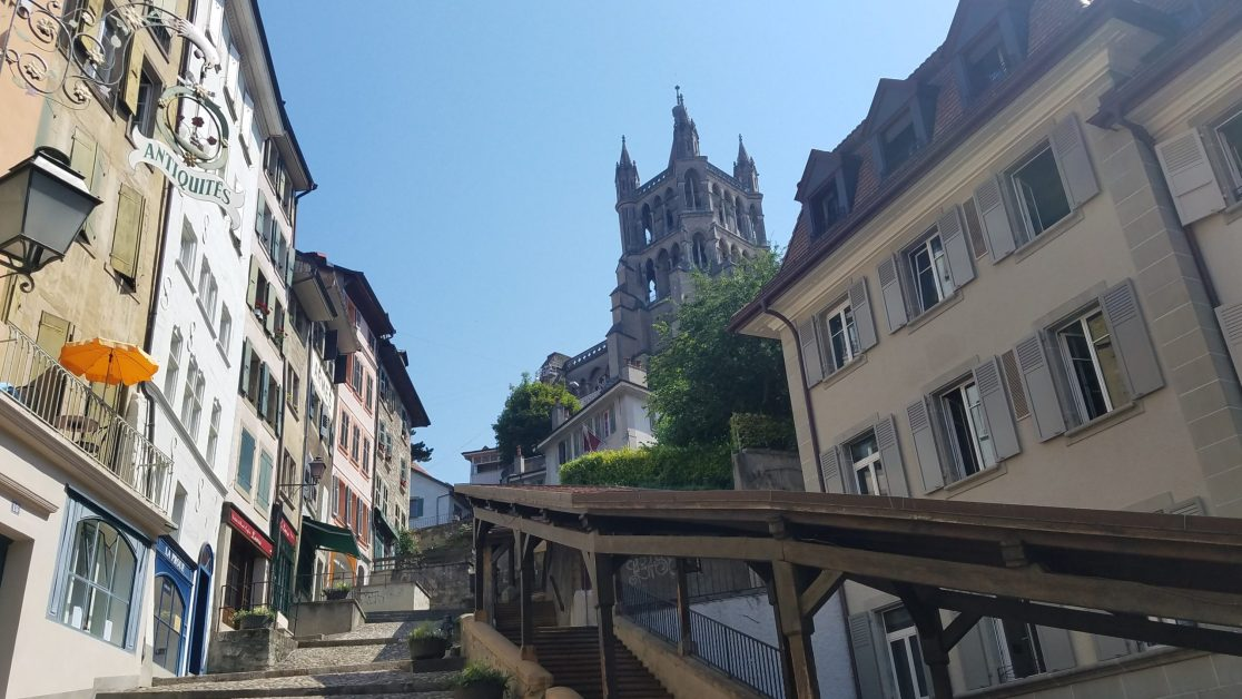 Lausanne Hill to cathedral - Credit: Deborah Grossman
