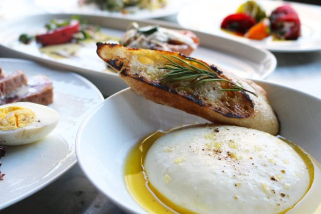 Brasswood Mozzarella plate and appetizers - Credit: Deborah Grossman