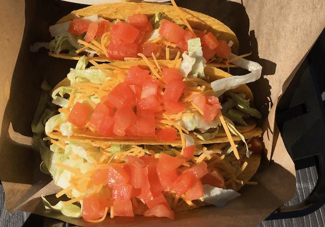 Taco Supremes at Beachfront Taco Bell