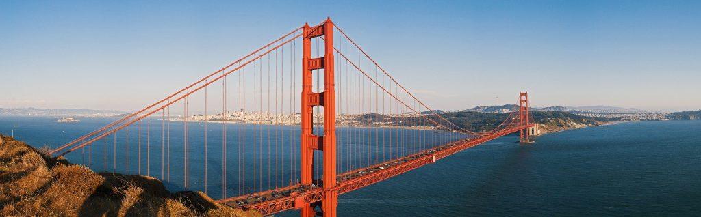Golden Gate Bridge view from Marin Headlands