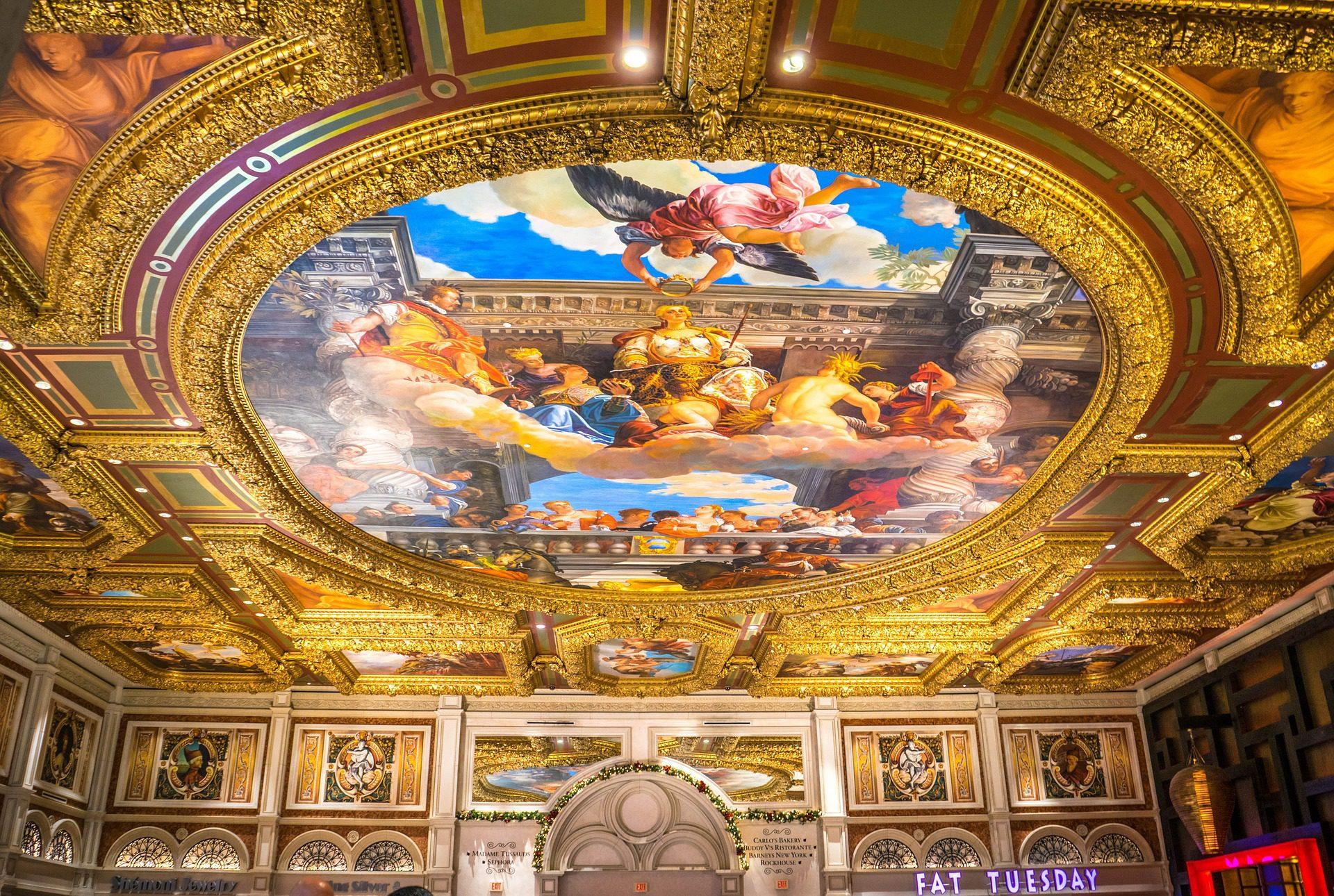Re-creation of Michelangelo's painted ceiling at The Venetian, Las Vegas