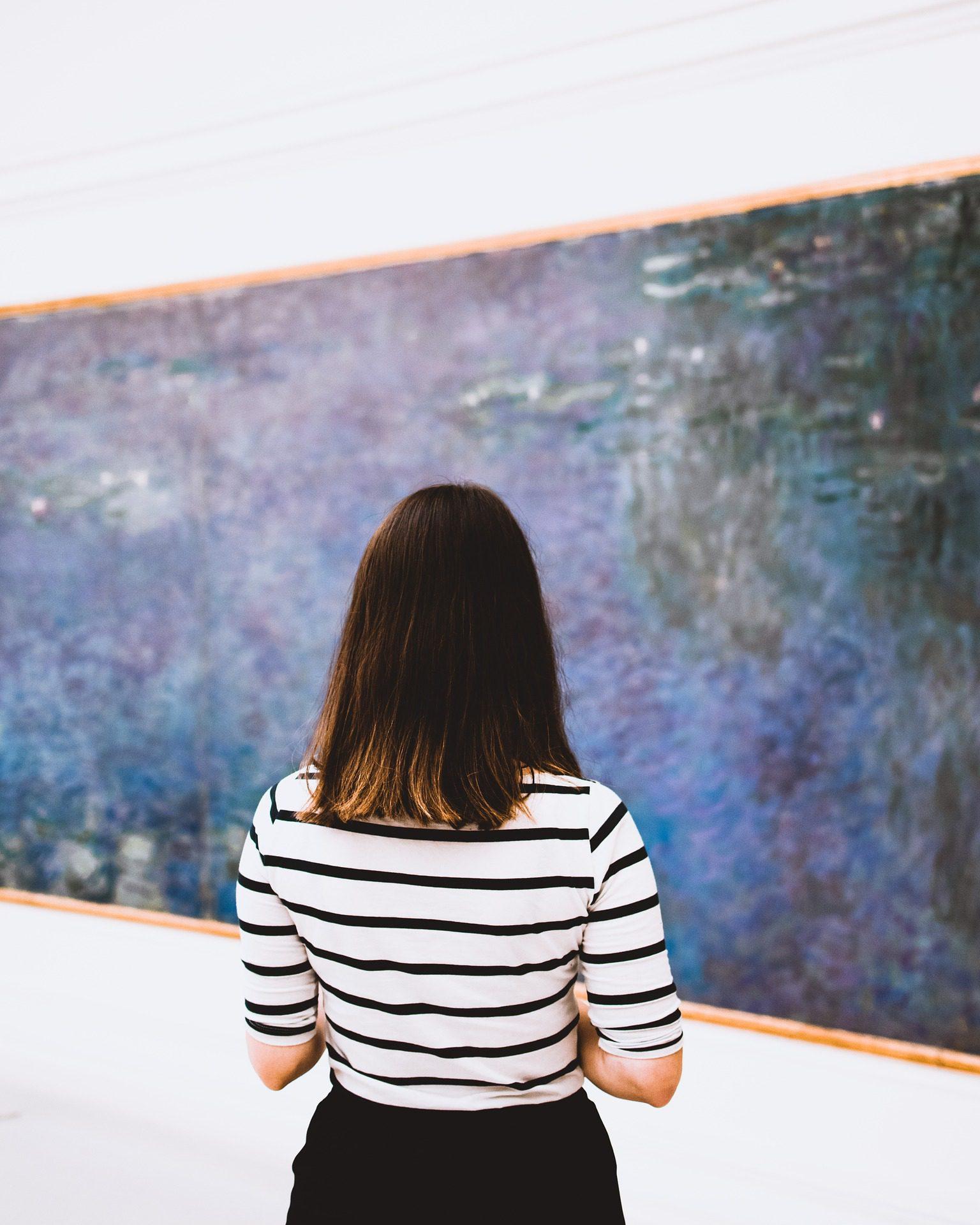 Monet's Water Lilies at Musee l'Orangerie, Paris