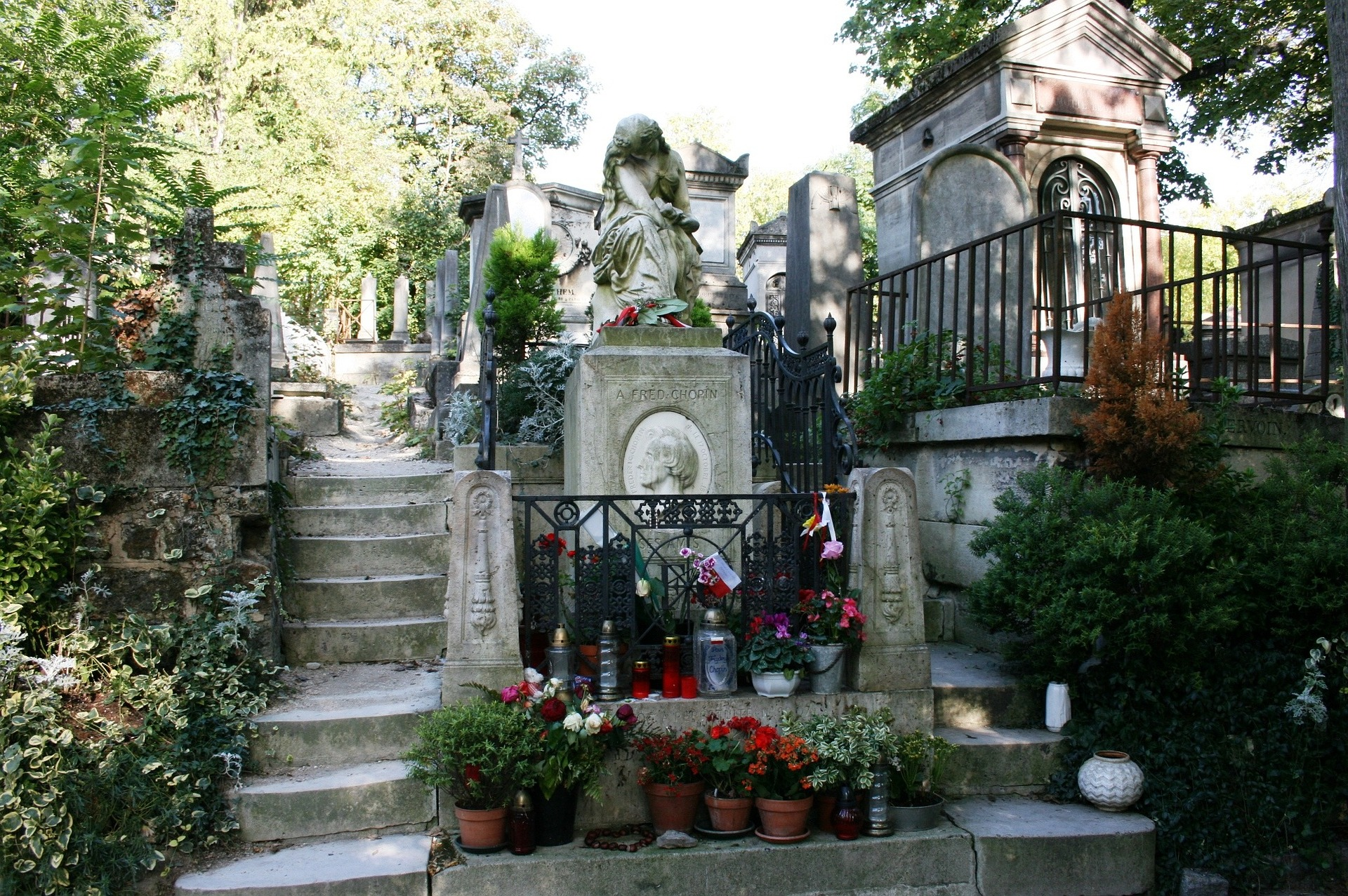 Chopin Tomb at Pere Lachaise Cemetery, Paris