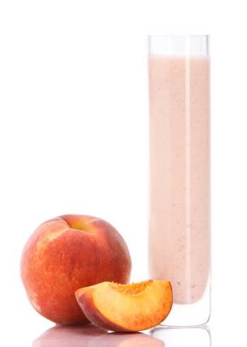 peach smoothie protein shake