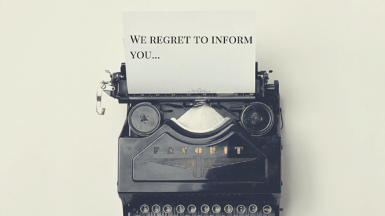 Have you gotten a rejection letter from a publisher? You aren't alone.