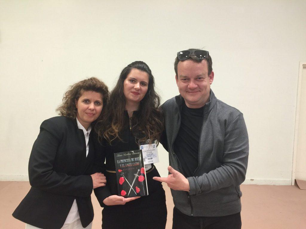 2016 London Book Fair Elena Nicoleta Busoiu with Nigel Lee.