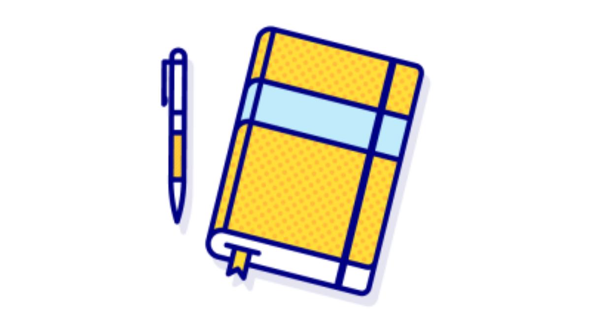 Custom Journals Blog Header Graphic