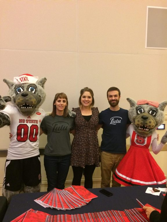 Team Lulu and the NC State Wolf Mascots