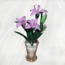 Origami iris and stem design
