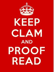 Keep calm and Proof read