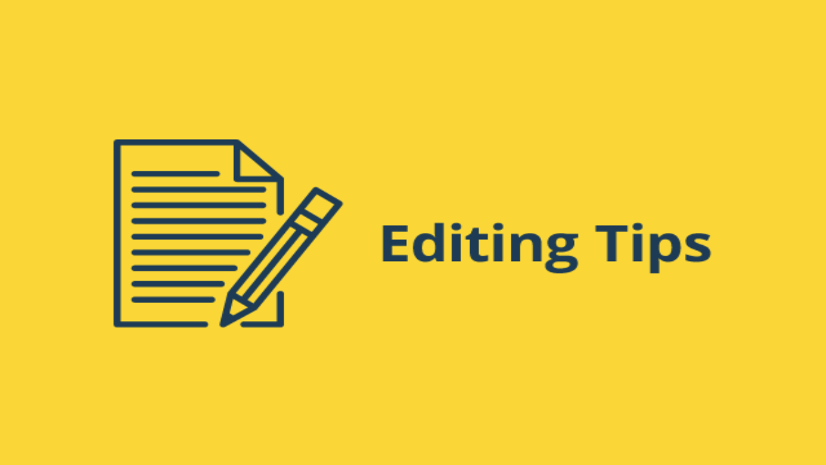 5 Tips For Editing Your Manuscript Blog Graphic Header