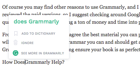 Grammarly, WordPress, Notifications