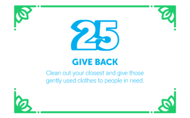 30 Ways in 30 Days #25 - Give back