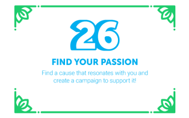 30 Ways in 30 Days #26 - Find your passion