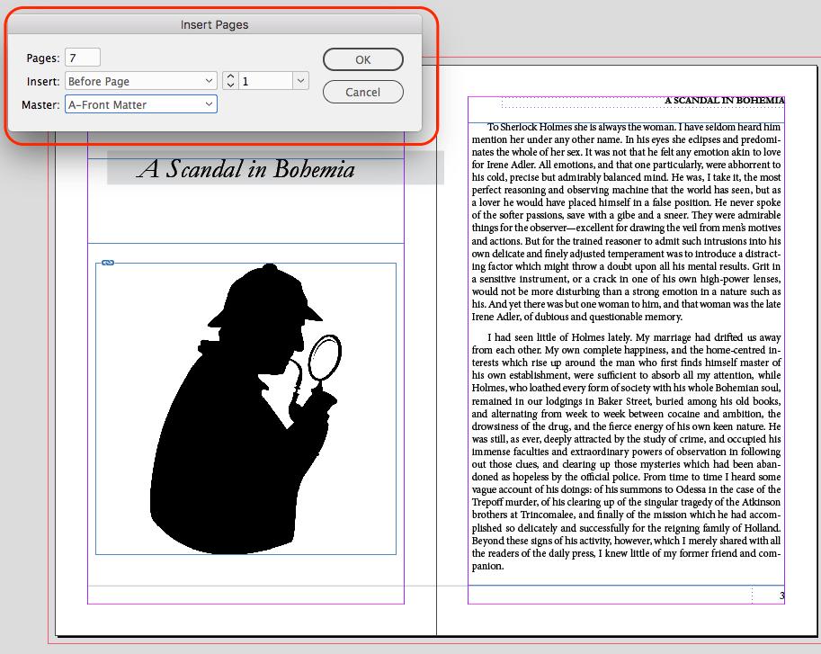 InDesign Insert Front Matter