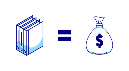 Books equal Money